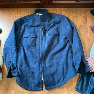 L.L. Bean shirt jacket slightly fitted XL blue